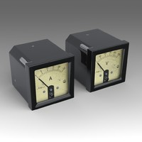 ammeter voltmeter 3d model