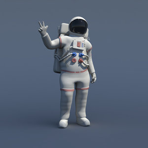 3d rigged generic astronaut