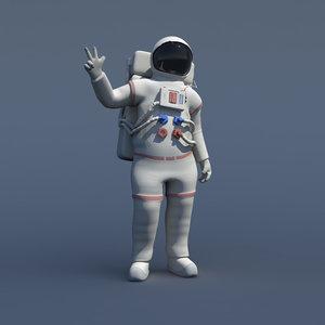 3d rigged generic astronaut