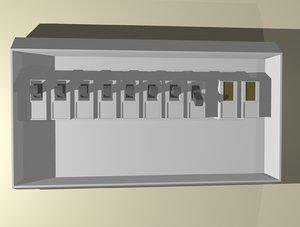fuse box 3d model