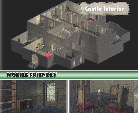3dsmax castle interior kit