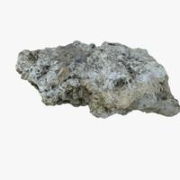 Realistic Stone Debris Piece 06