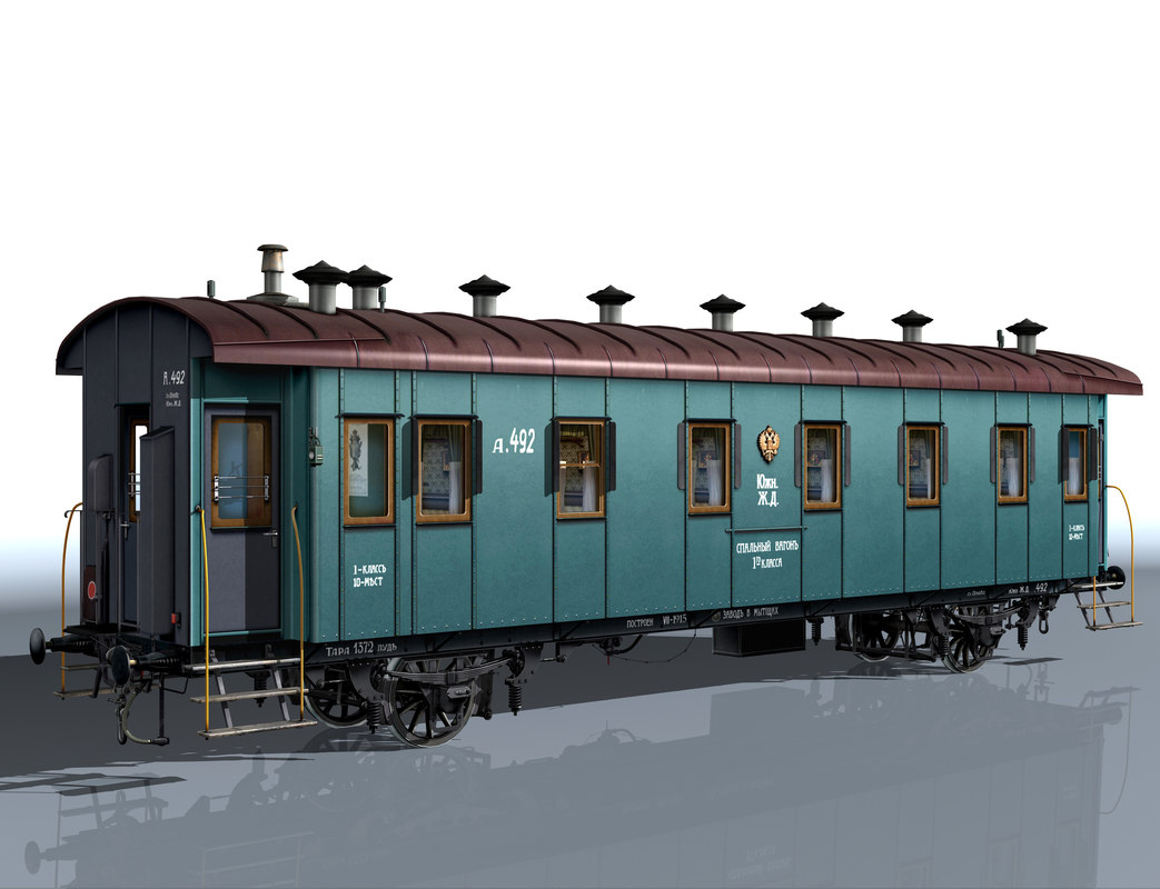 2-axle passenger wagon 3d model