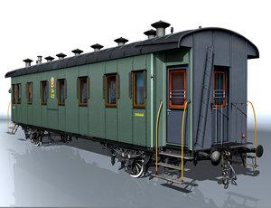 3ds 2-axle passenger wagon 4139