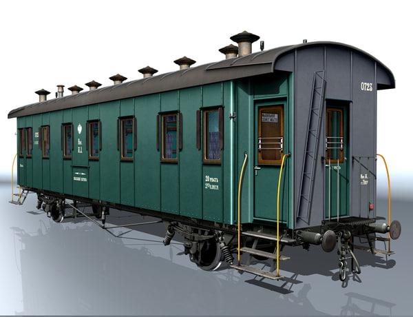 3d 2-axle carriage passenger 0723