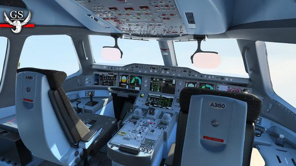 airbus vr a350 3d model