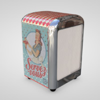 vintage napkin dispenser c4d