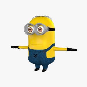 minion film cartoon 3d model