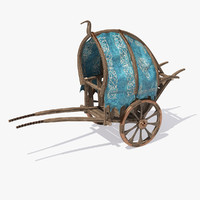 3d model fantasy cart