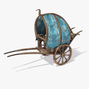 3d model fantasy cart