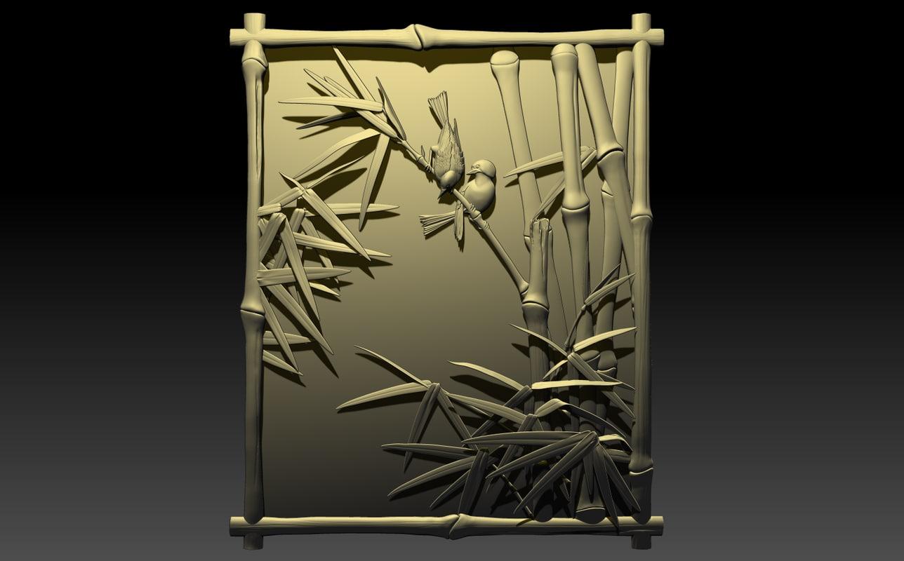 maya birds bamboo