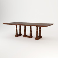 3d baker column dining table model