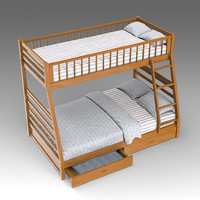 3ds max children s bunk bed