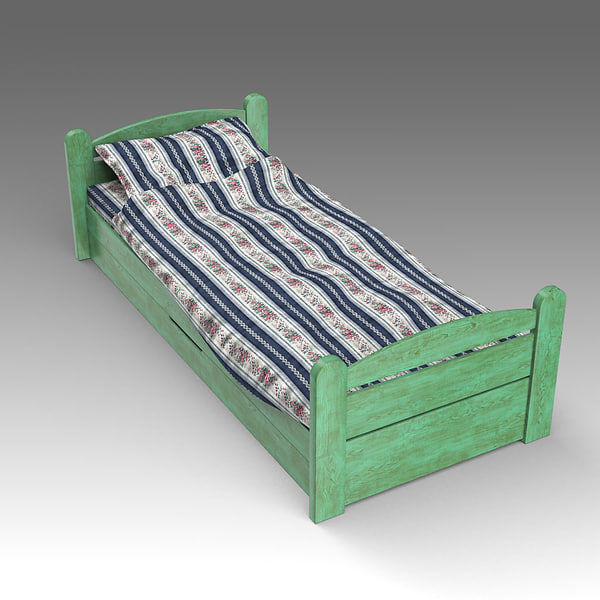 x wooden bed