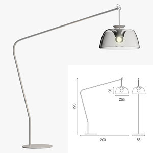 3d model calligaris arpege floor lamp