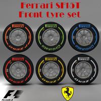 3d pirelli tyre sf15t f1 model