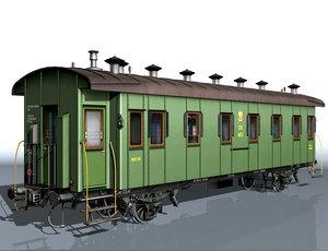 3d 2-axle passenger wagon 4072
