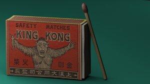 matchstick matchbox 3d model