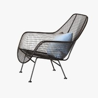 Mid-Century Sculptura Garden Lounge Chair  by Woodard