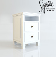 3d night stand ashley model