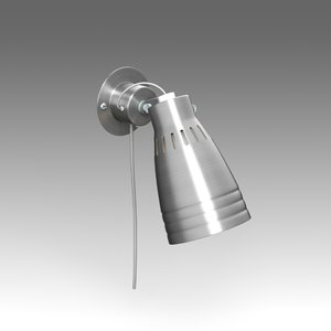 kremare sconce ikea wall lamp 3d model