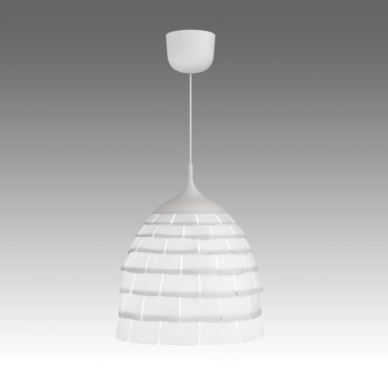 kvarter lamp ikea 3d fbx