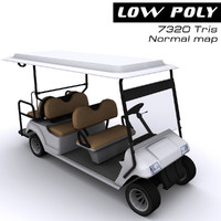 electic cart 3d model