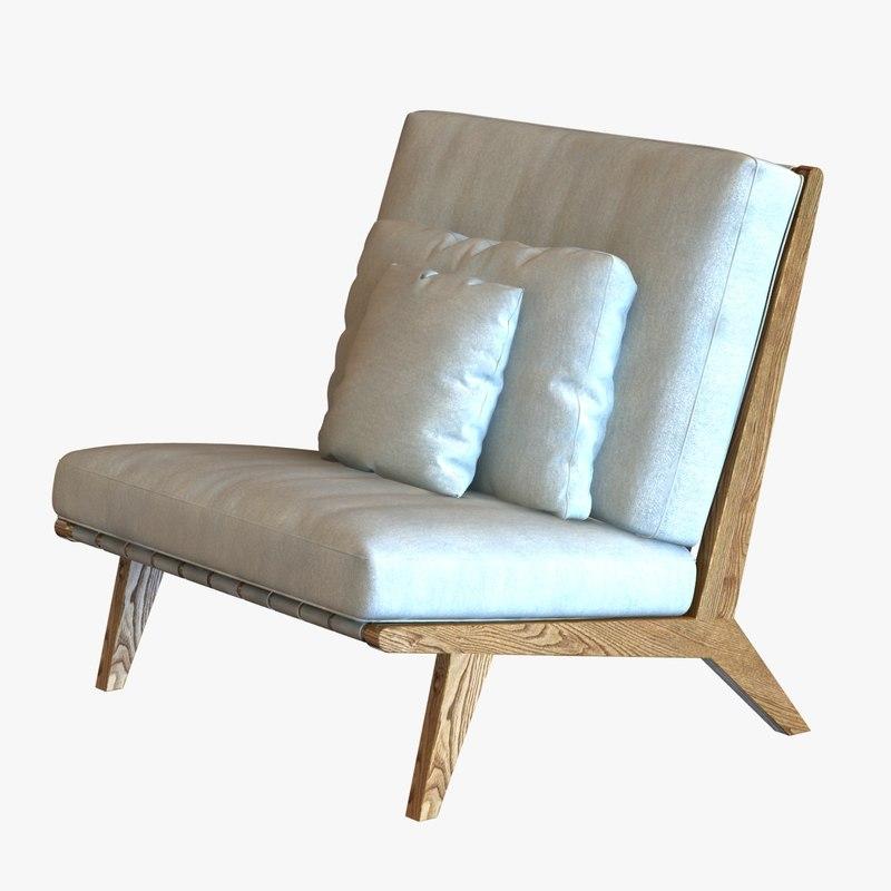 chair cushions 3d 3ds