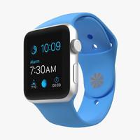 apple watch sport blue 3d max