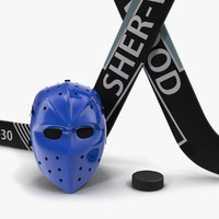 Hockey Equipment 3D Models Collection
