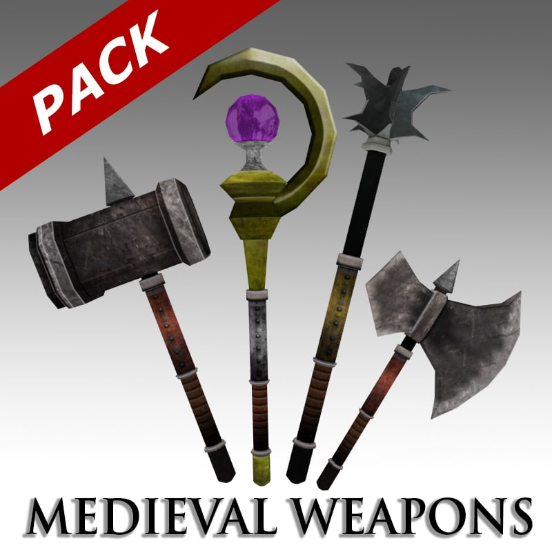 3d medieval weapons pack
