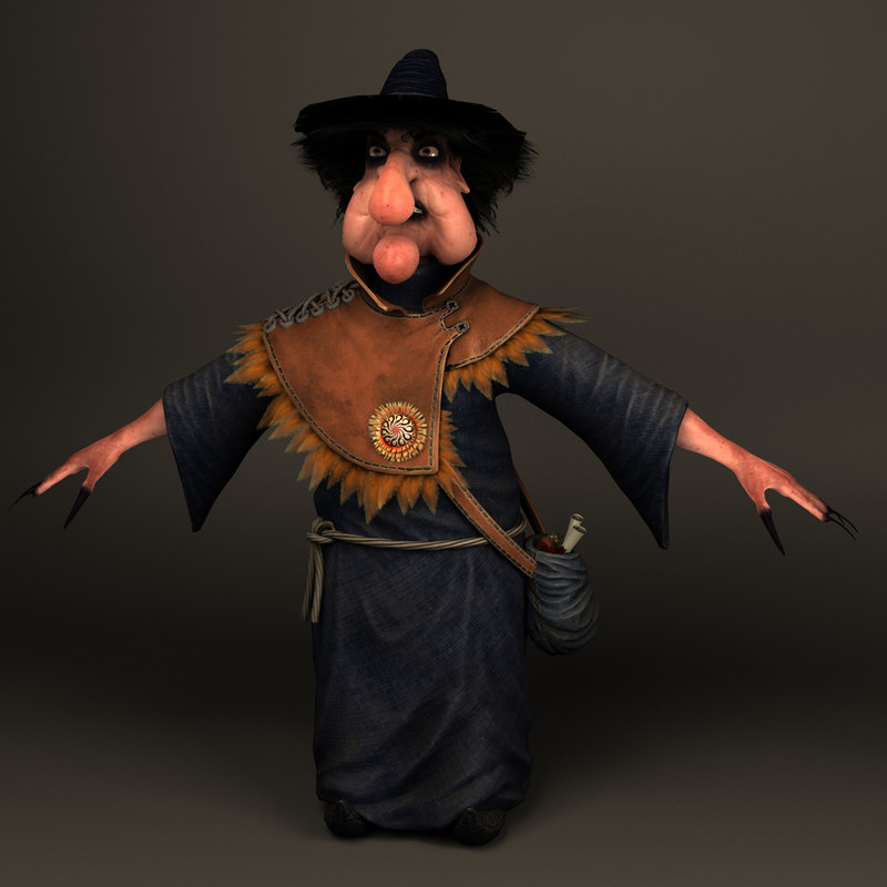 3d fantasy witch model