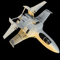 spacefighter space fighter 3d obj
