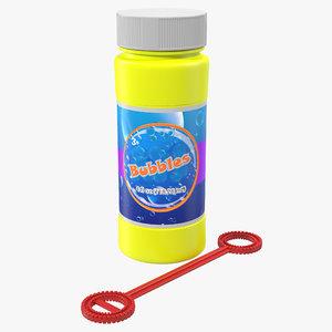3d bubbles bottle wand generic