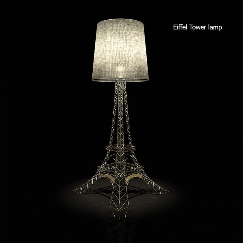 floor lamp eiffel 3d model