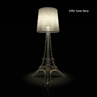 floor lamp eiffel 3d model