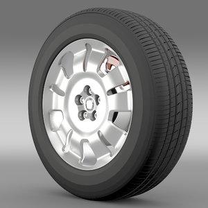 3d model fiat doblo work wheel