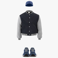 Baseball Style Clothing 3D Models Collection