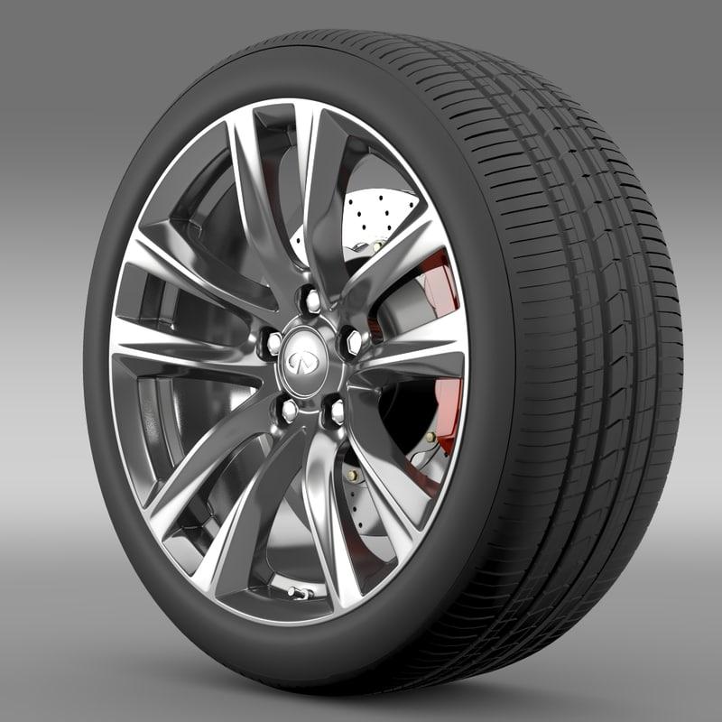 infiniti q70 hybrid 3d model