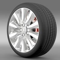 honda legend hybrid wheel 3d 3ds