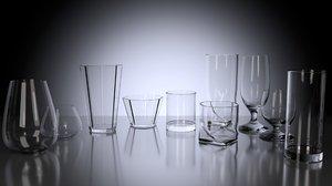 pack glasses 3d model