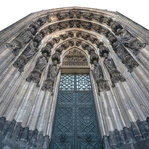 gothic architecture gate cathedral 3d max
