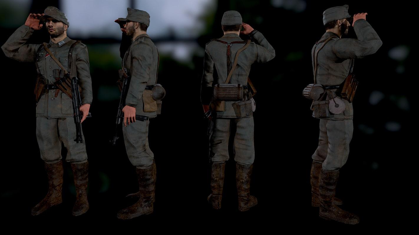3ds max wehrmacht soldier