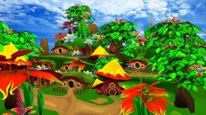 3d model hobbit village