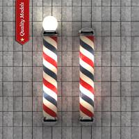 barber pole 3d model