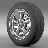 3d model mopar dodge challenger wheel