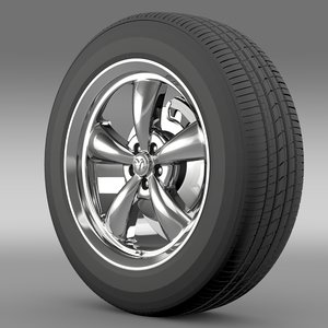 3d model mopar dodge challenger wheel