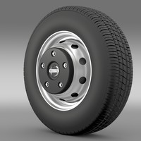 3d nissan cabstar wheel