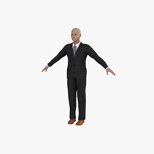 3ds max male character rigged