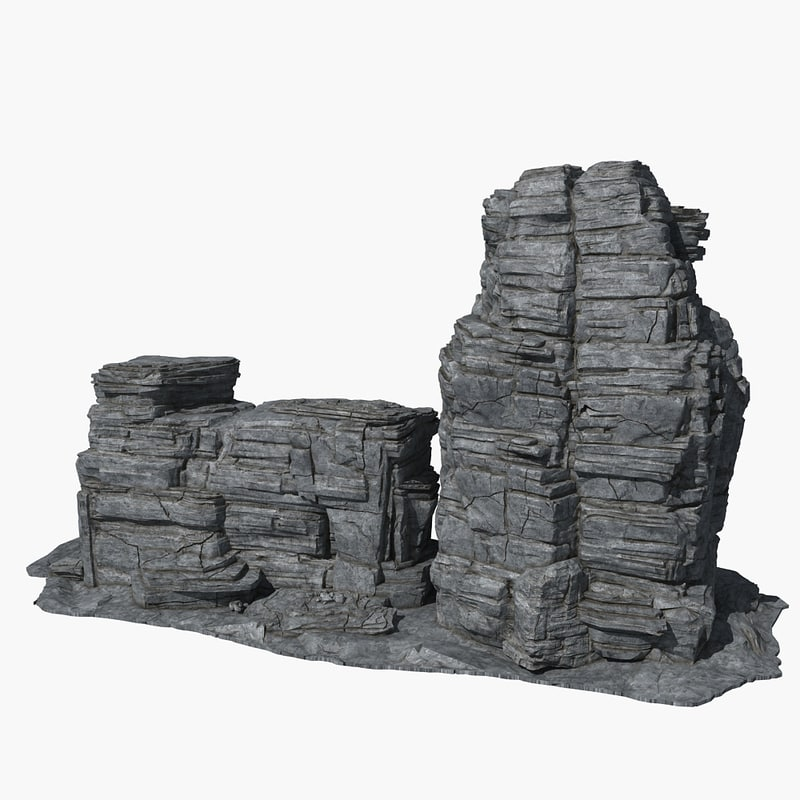 rock 17 3d max